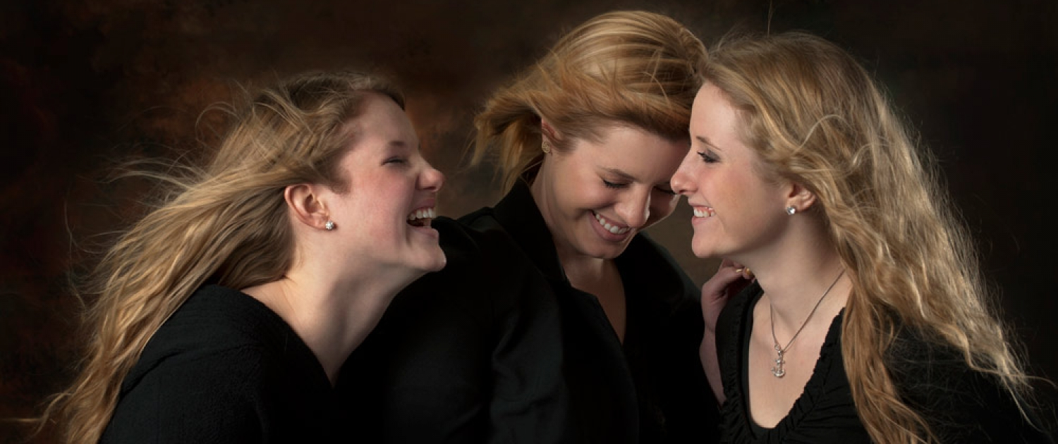 Portrait of sisters laughing